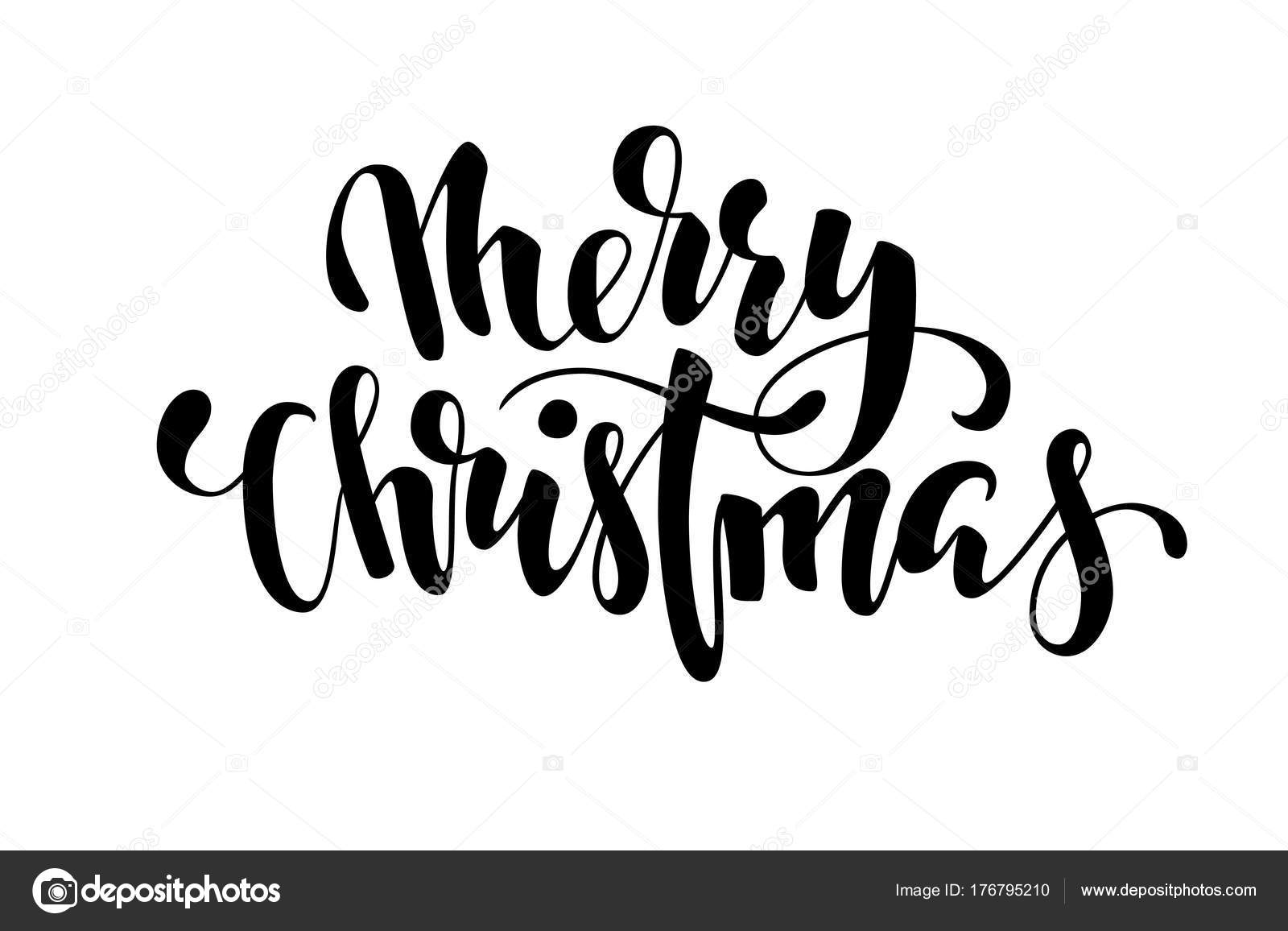 Merry Christmas Hand Drawn Creative Calligraphy And Brush Pen