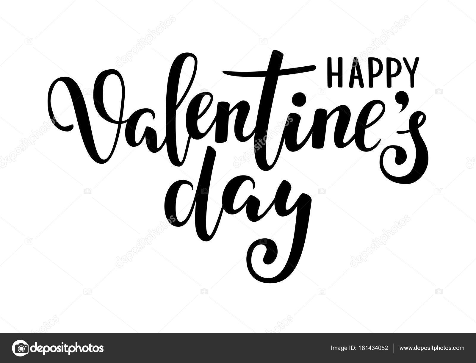 Happy Valentine S Day Hand Drawn Creative Calligraphy And Brush Pen Lettering Isolated On White Background Design For Holiday Greeting Card Invitation