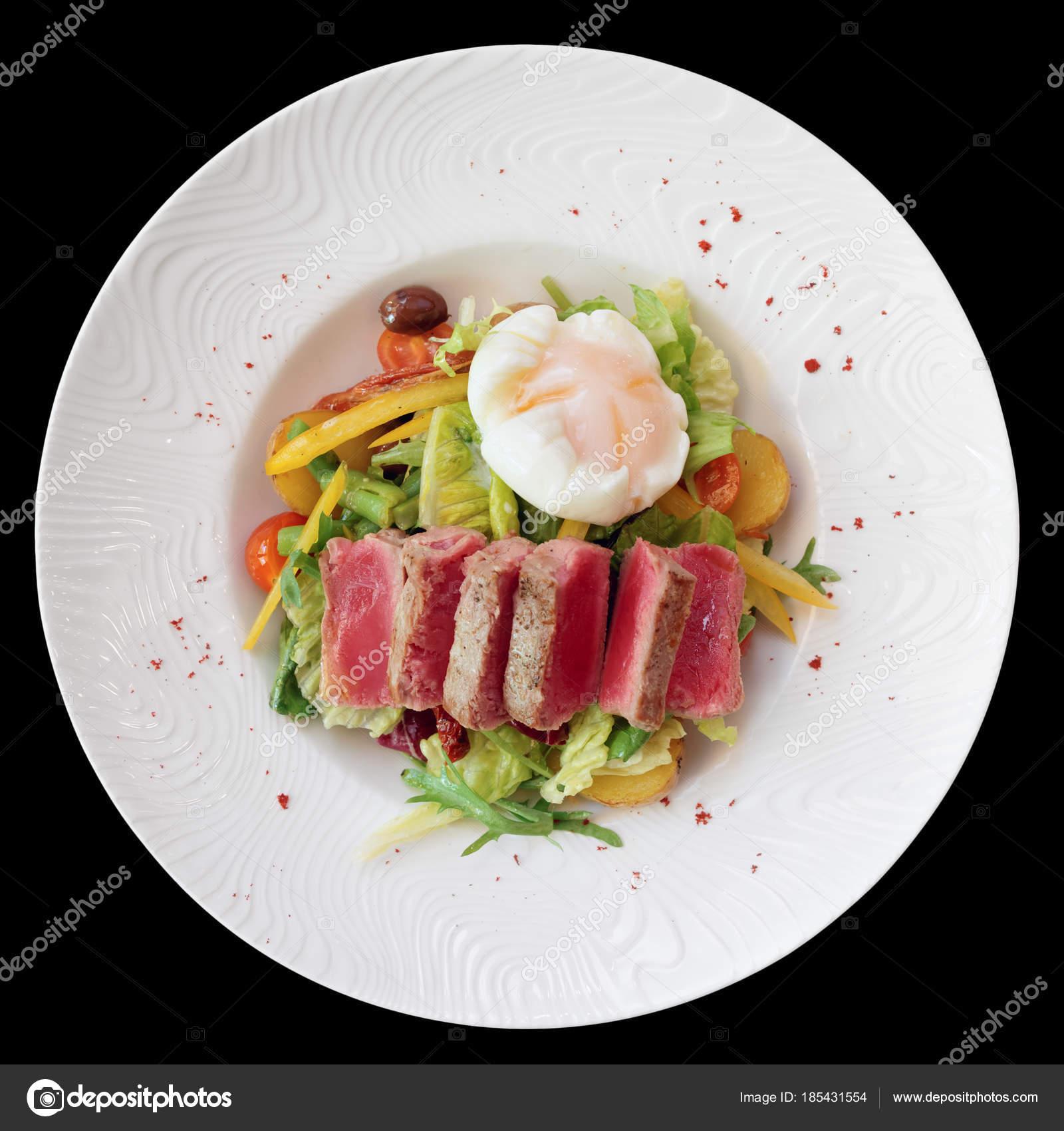 salade nicoise de rares frits thon pomme de terre salade mixte et poch photographie. Black Bedroom Furniture Sets. Home Design Ideas