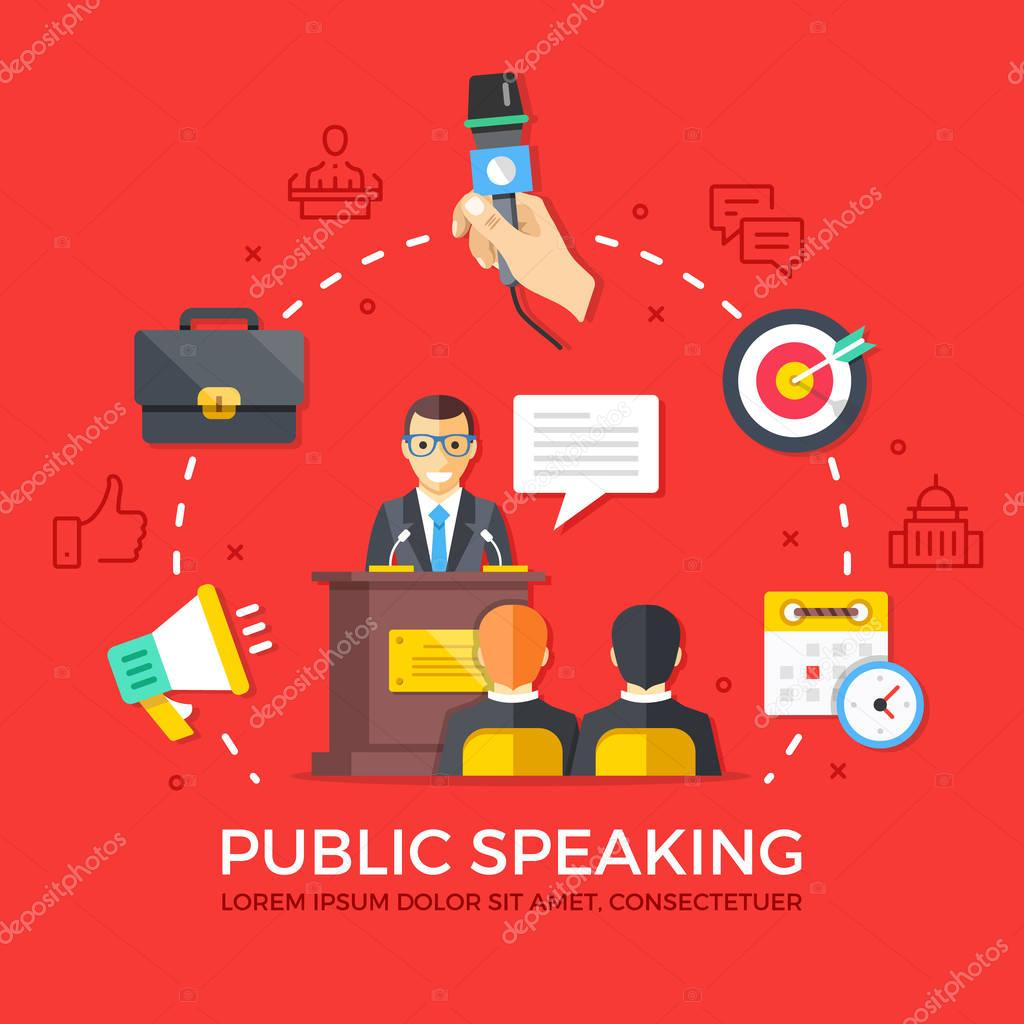 public speaking speech Speaking in public is a fear for a lot of people, whether it's giving a speech, a toast at your friend's wedding, or being called on in class fortunately, you can make speaking in public less anxiety.