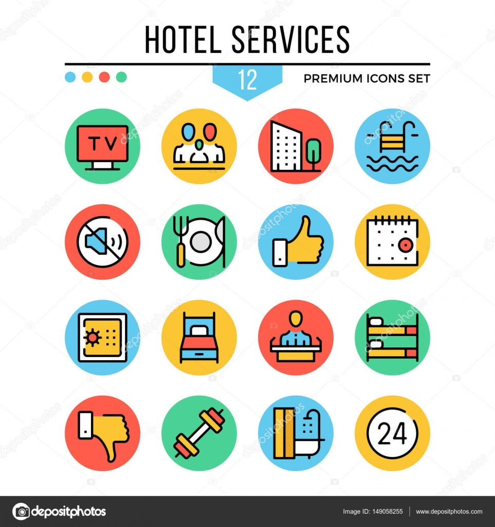 Hotel services icons modern thin line icons set premium quality hotel services icons modern thin line icons set premium quality outline symbols biocorpaavc Gallery