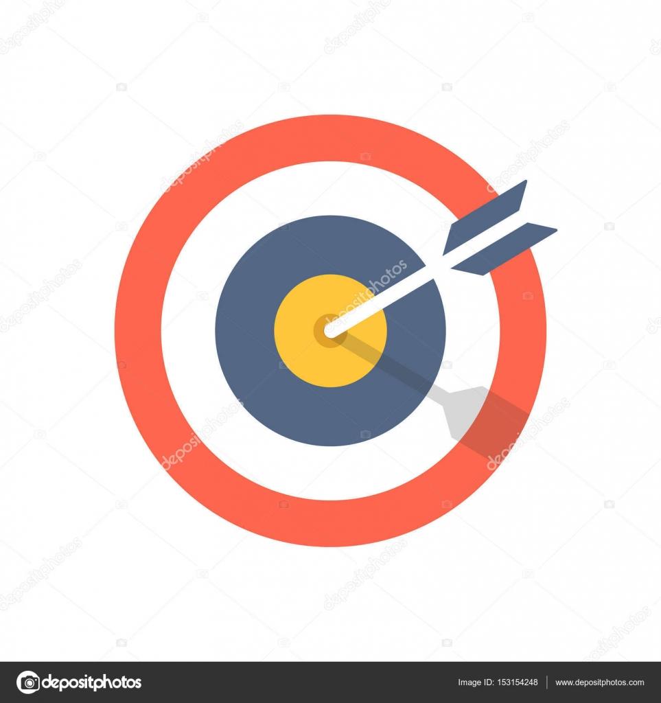Target and arrow icon bullseye symbol modern flat design graphic target and arrow icon bullseye symbol modern flat design graphic illustration vector target buycottarizona Image collections