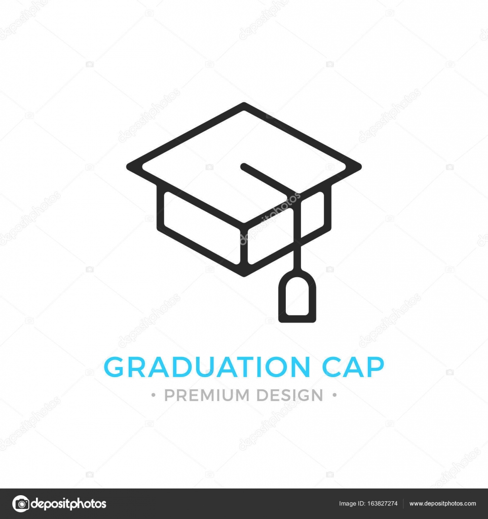 Graduation Cap-Symbol. Bildung, lernen, Abschluss-Logo. Premium ...