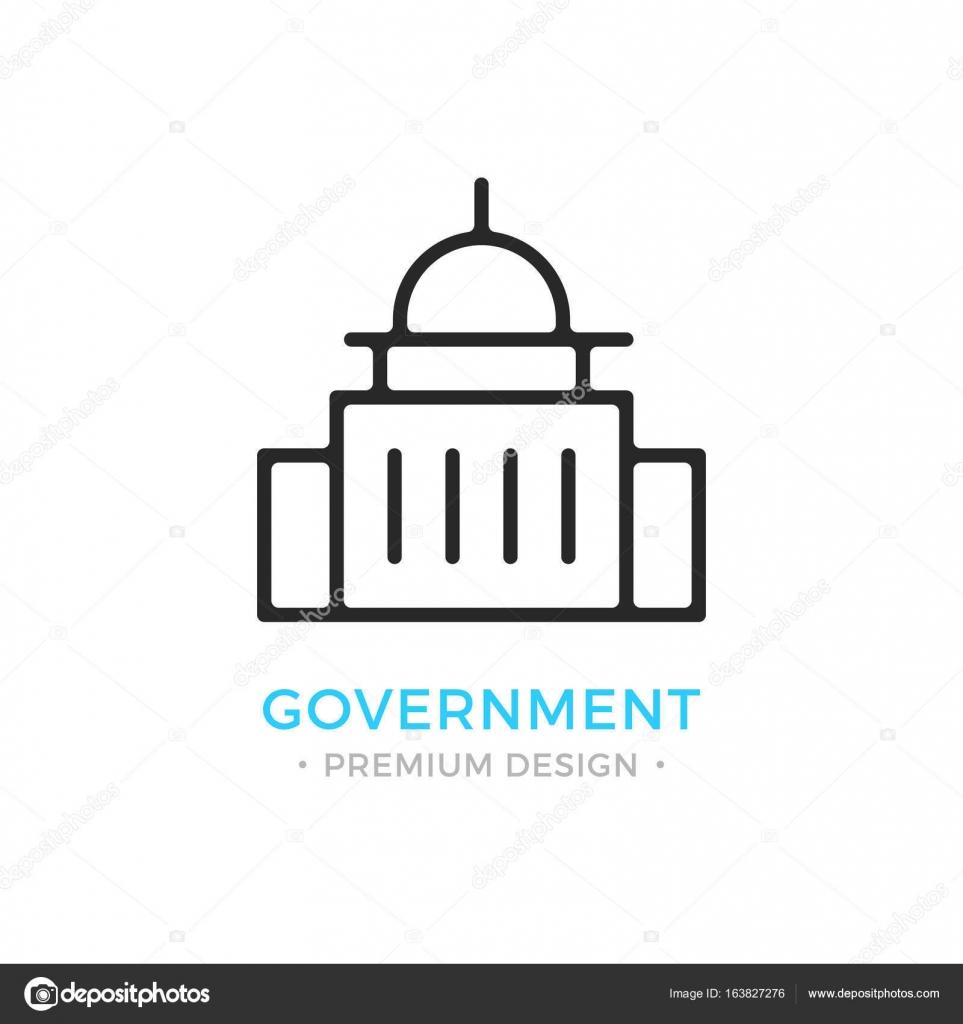 Government Icon Capitol Building Logo Premium Design