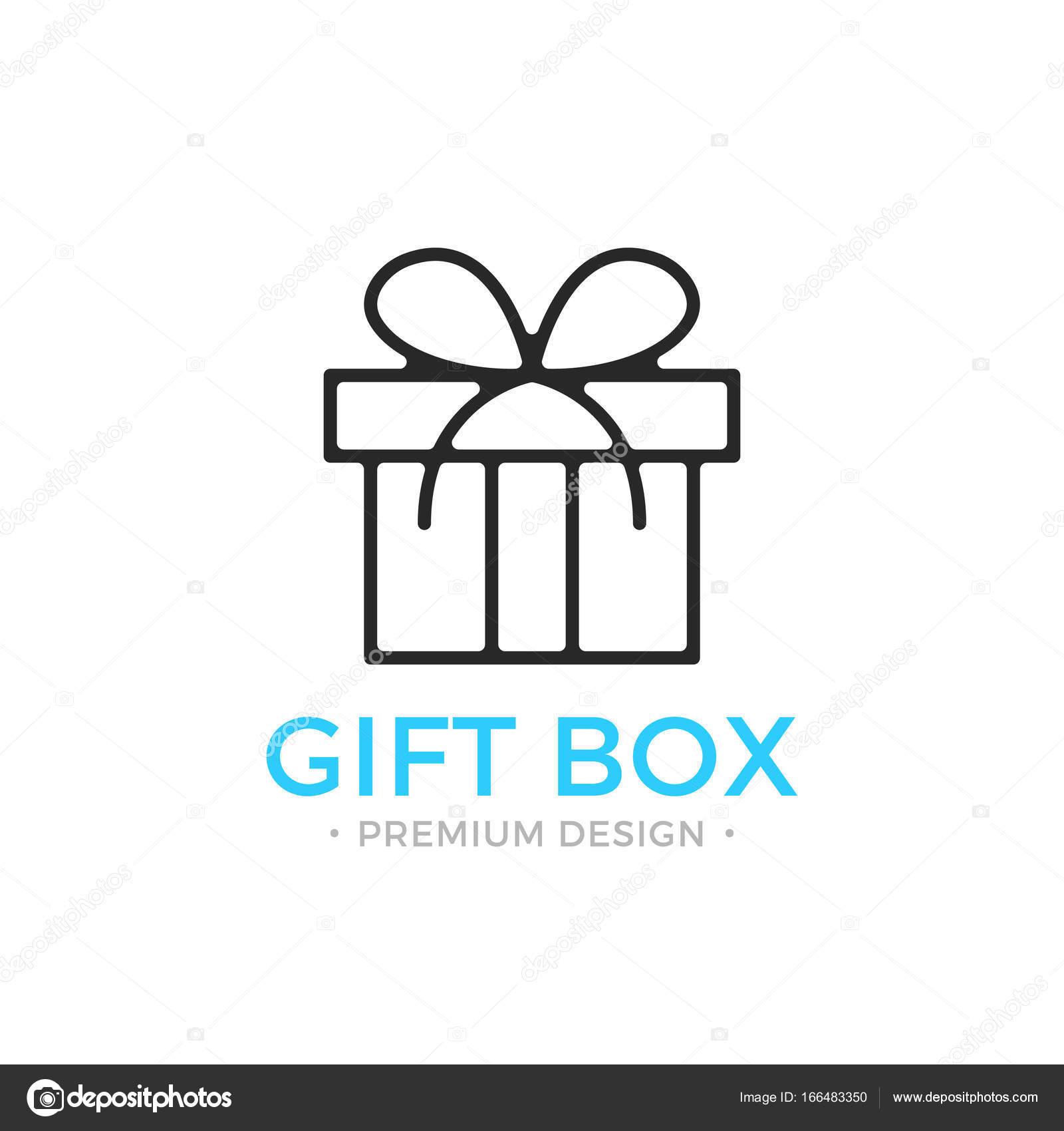 Favoriete Geschenk box lijn pictogram. Doosje, vakantie aanwezig concepten  GY03