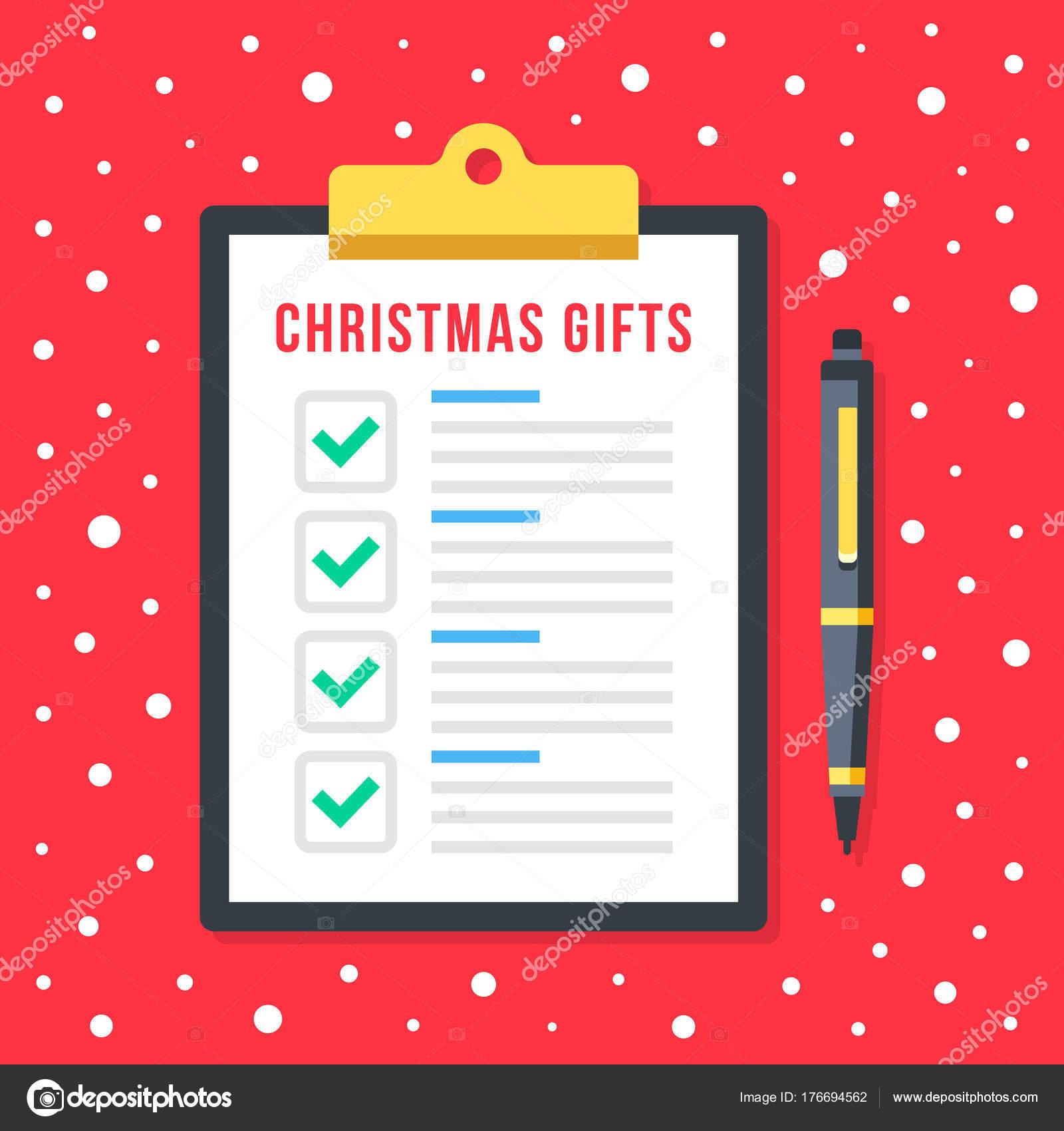Lista Regali Natale.Lista Regali Natale Appunti Con Lista Controllo Vacanza Doni