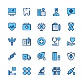 Fotografie Medicine and healthcare line icons set. Modern graphic design concepts, simple symbols, elements, pictograms collection. Minimal thin line design. Premium quality. Pixel perfect. Vector outline icons