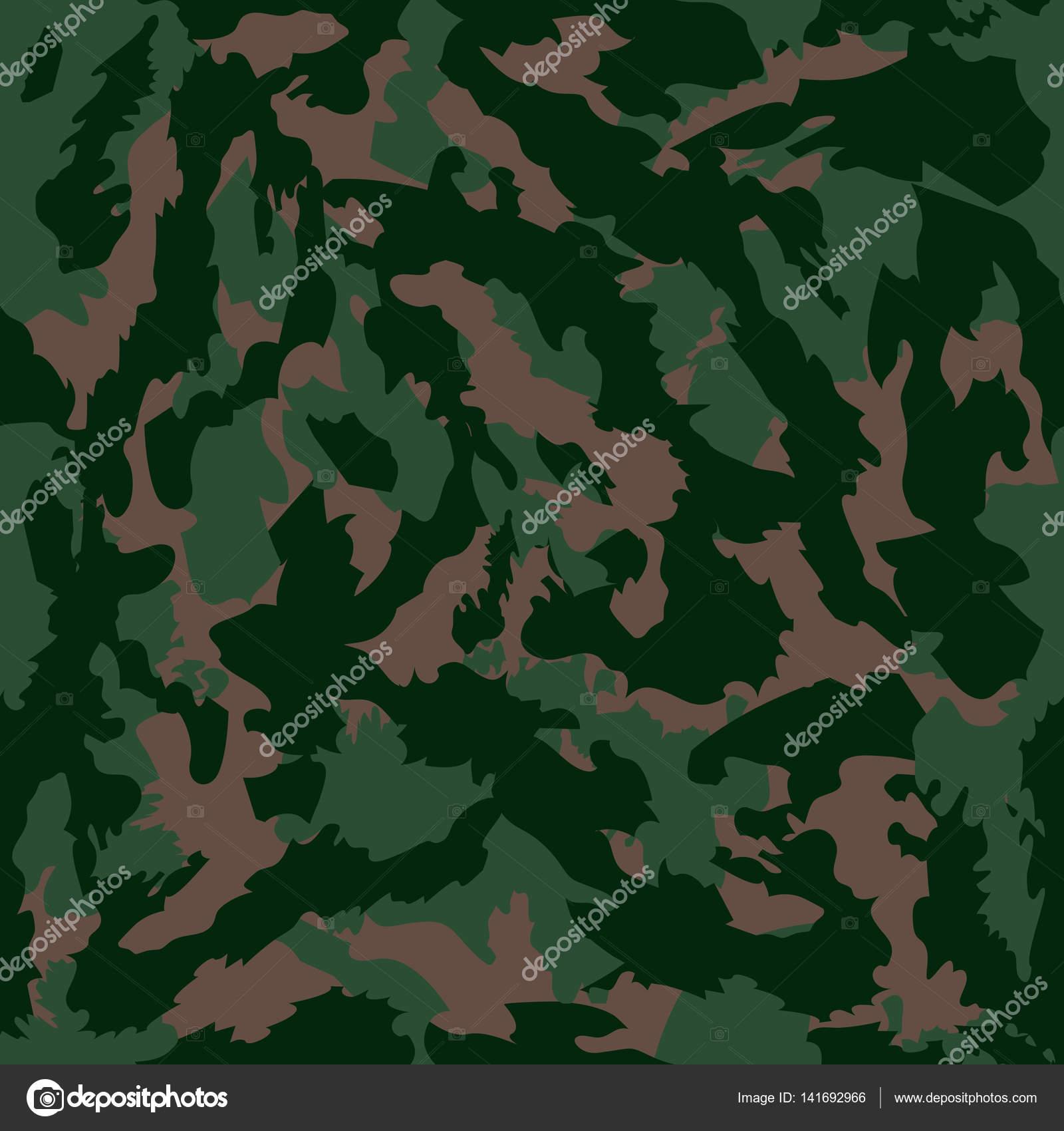 Ilustración de vector de patrón transparente de camuflaje ...