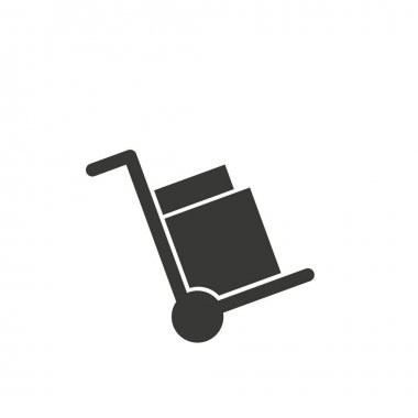 Handcart isolated minimal single flat linear icon for application and info-graphic. Delivery line vector icon for websites and mobile minimalistic flat design.EPS 10 icon