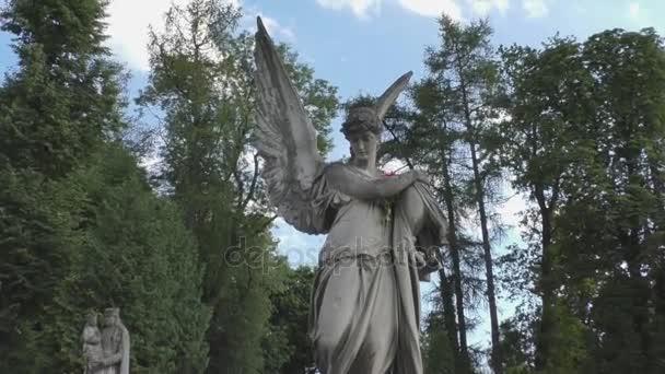 Socha v hřbitov Anděl s křídly
