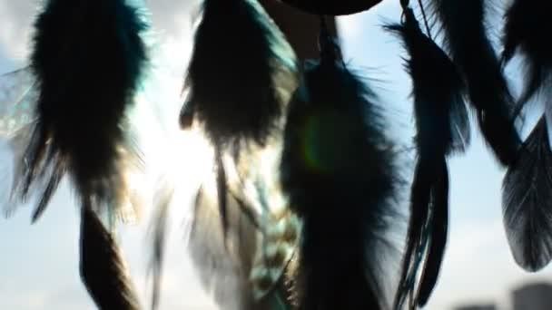 Dreamcatcher intrecciata con le piume
