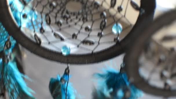 Acchiappasogni fatti a mano con perline e piume thread