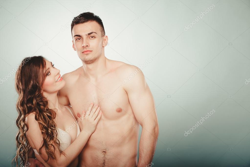 Passionate Sensual Young Couple Embracing On Stock Photo