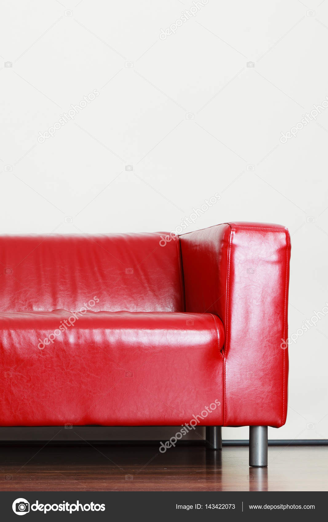 Detailed closeup leather red sofa — Stock Photo © Voyagerix ...