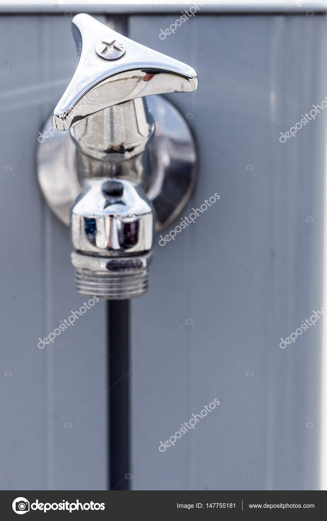 Delightful Small Metal Tap Water Outside U2014 Stock Photo