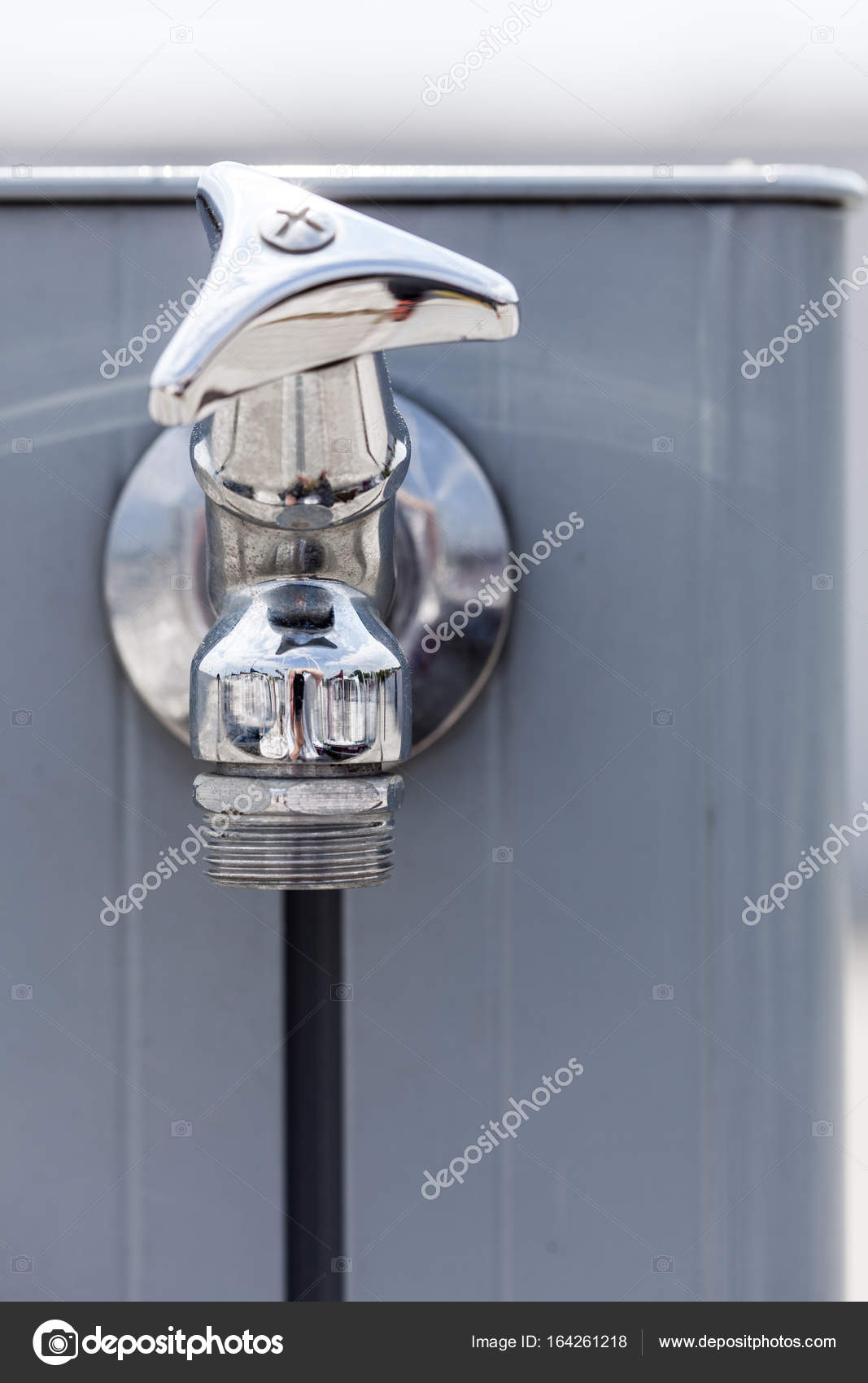 Great Small Metal Tap Water Outside U2014 Stock Photo