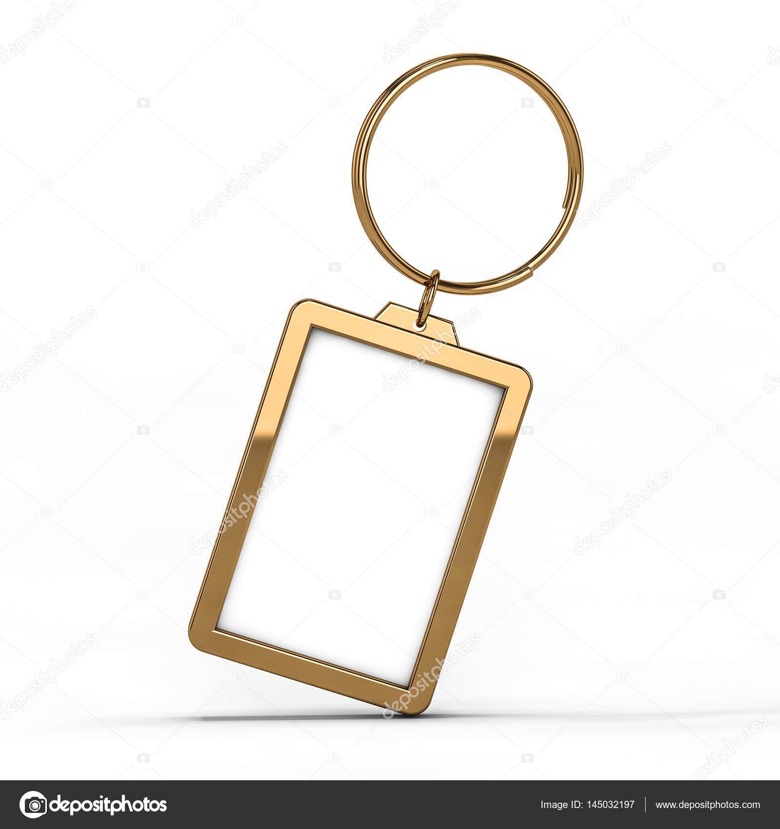 Blank gold keychain  Mockup — Stock Photo © polesnoy #145032197
