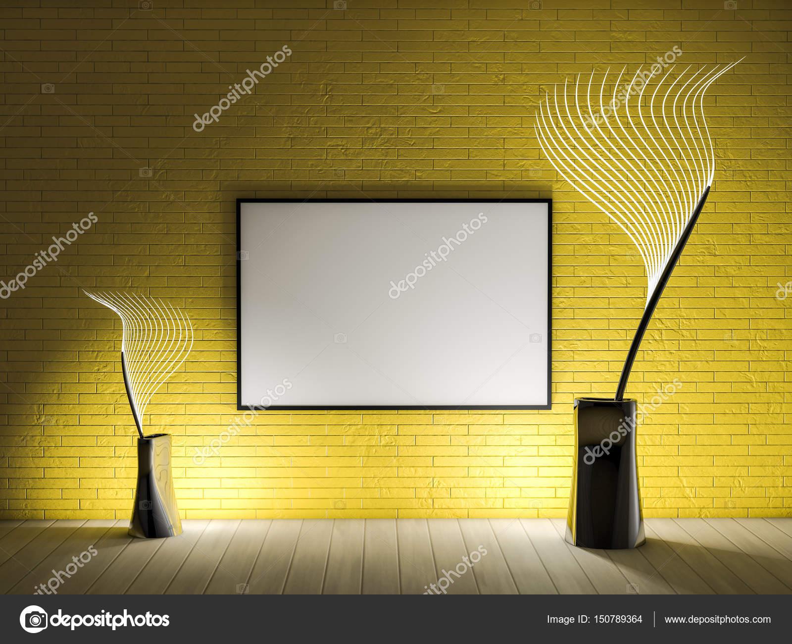 Mock-up Rahmen, moderne Hintergrund weiß. 3D-Rendering — Stockfoto ...