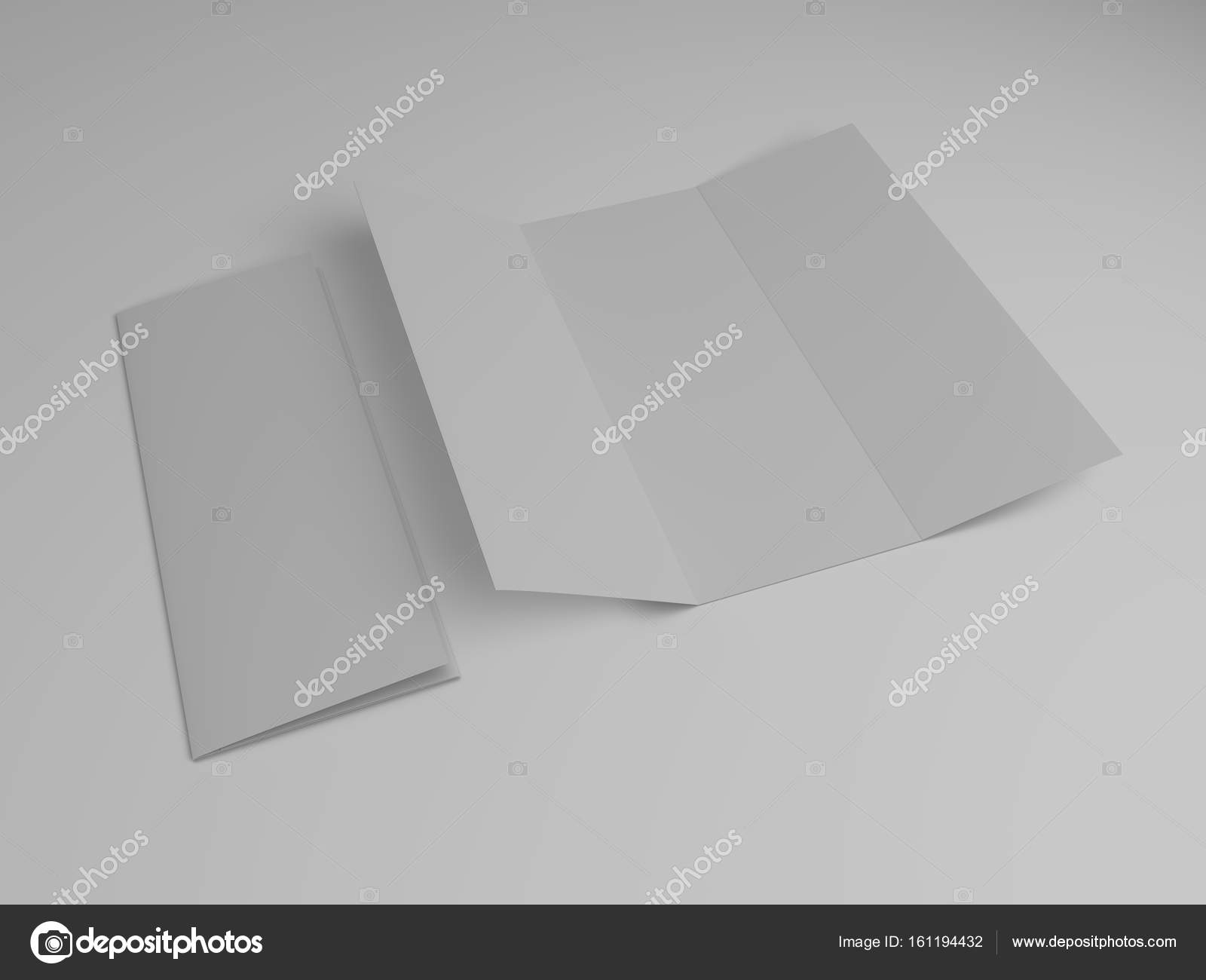 blank tri fold brochure design template 3d rendering photo by polesnoy