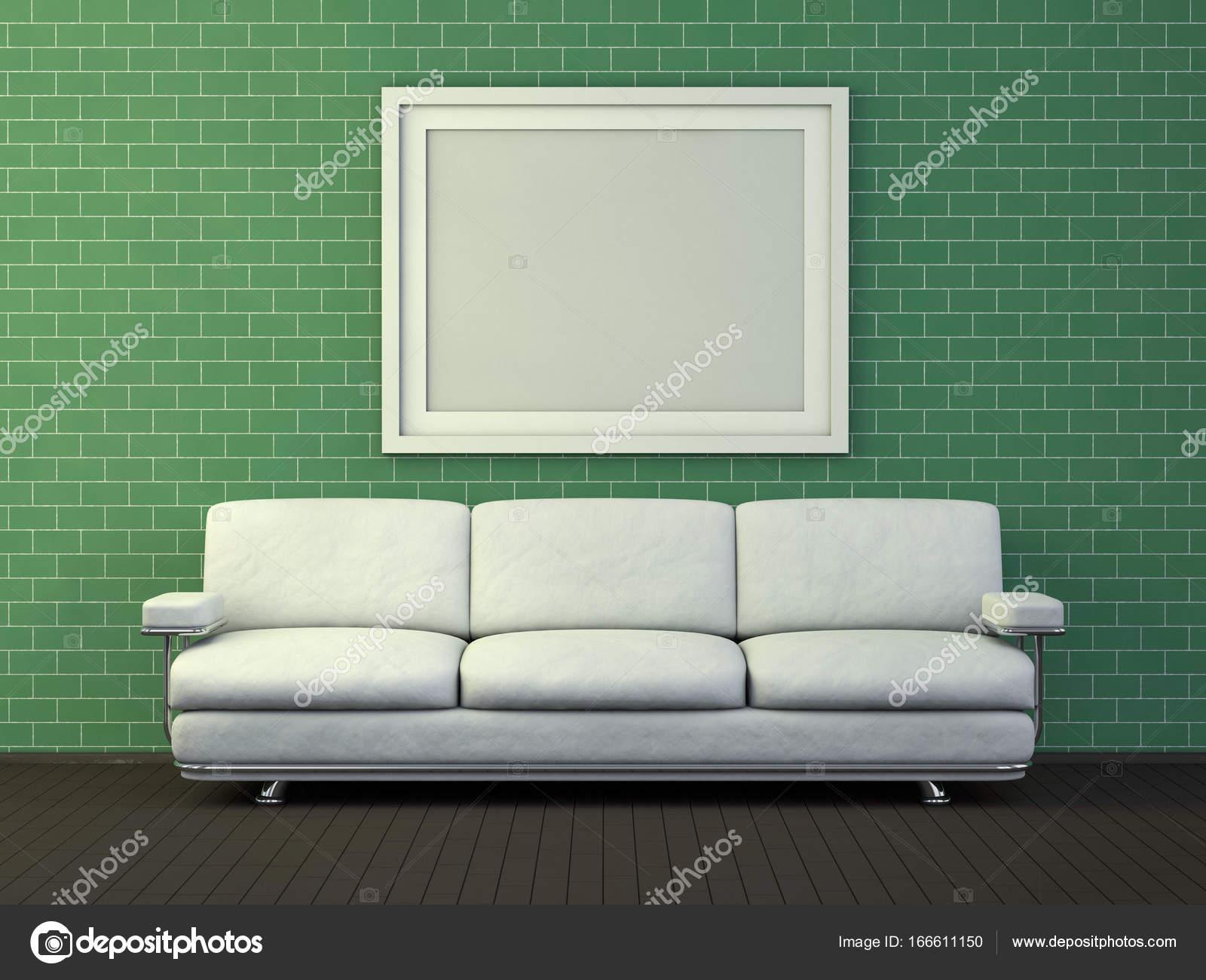 Weiße Poster mit Rahmen Mock-up. 3D-Rendering — Stockfoto © polesnoy ...