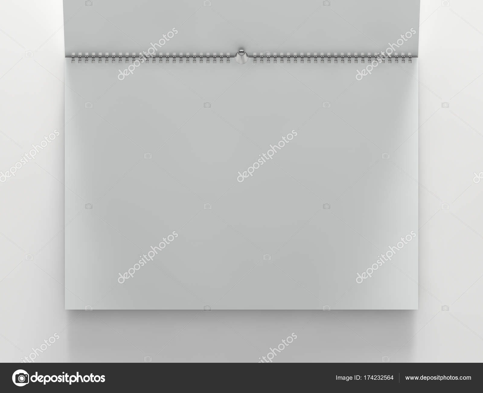 horizontal calendar template