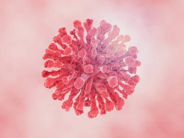 The virus in the body in the macro scale. 3D rendering