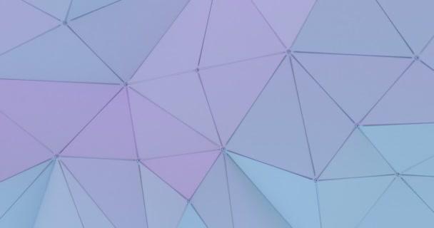 Abstraktní animovaný polygonální vzor luxusní bílá. 3D vykreslování
