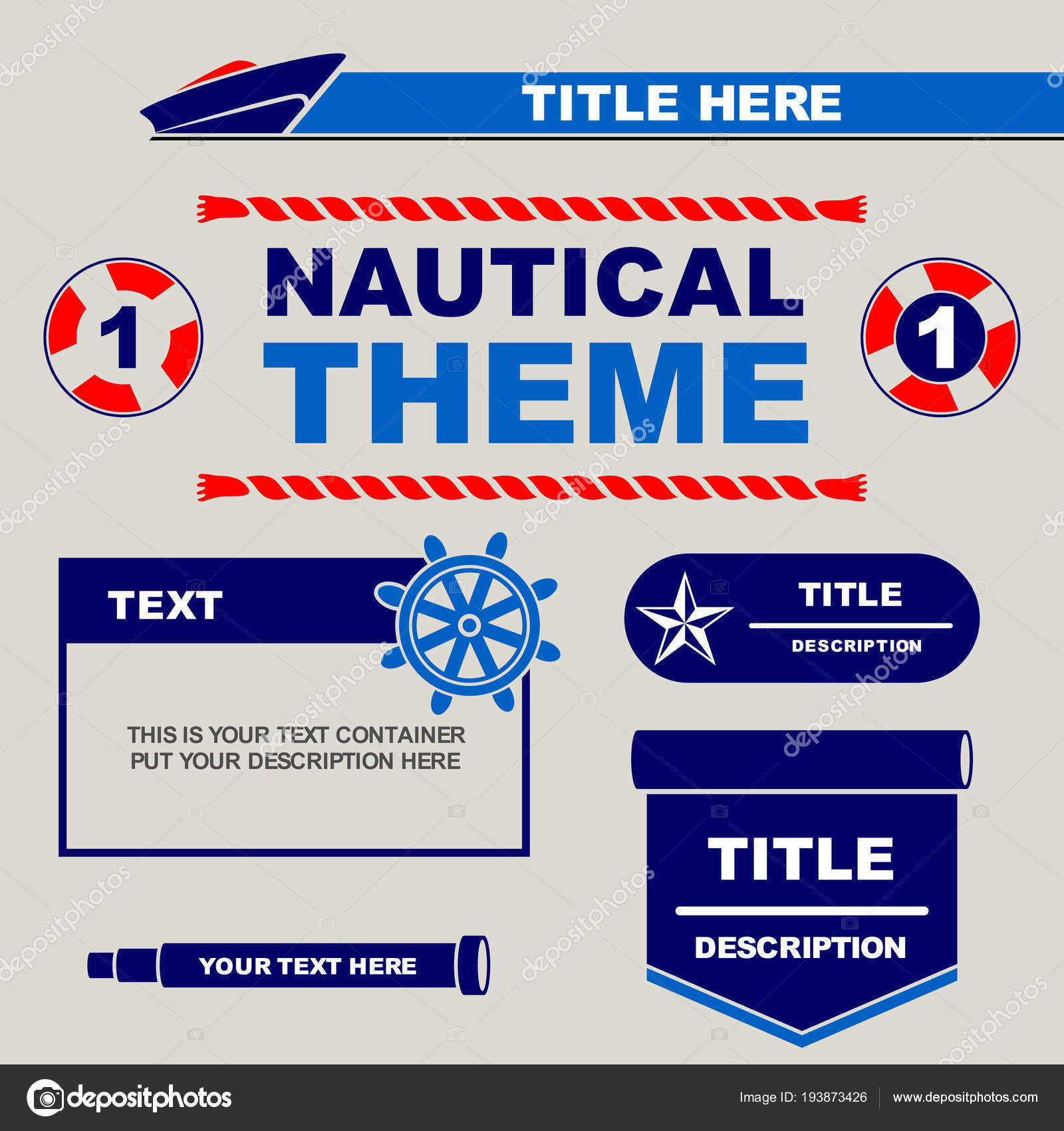 Nautical Theme Design Template You Can Use Flyers Banner Brochure ...