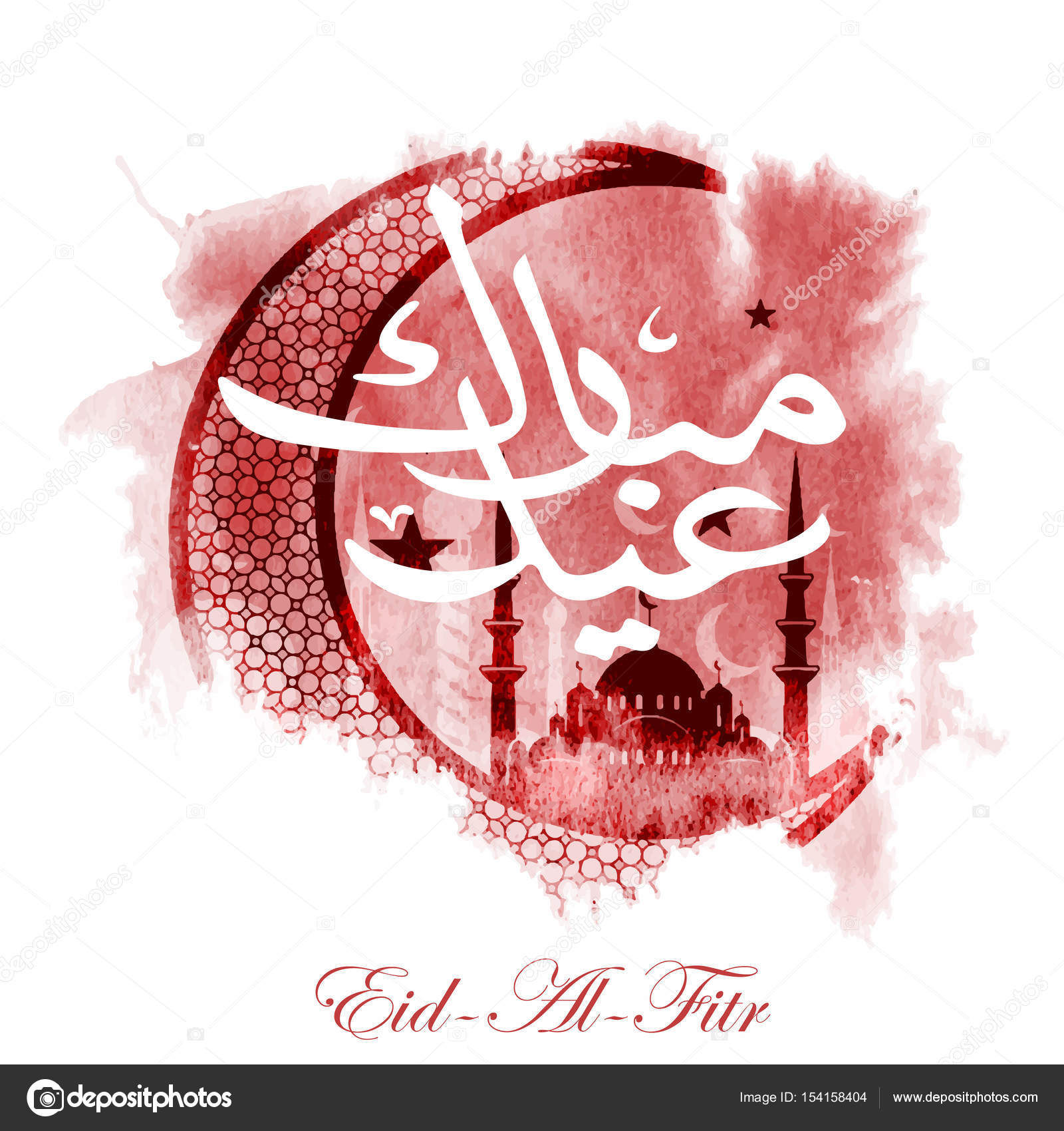 Eid al fitr greeting card stock photo vklim2011 154158404 calligraphy of arabic text eid al fitr feast of breaking the fast holiday greeting card in retro style text in arabic happy holiday kristyandbryce Choice Image