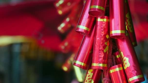 Čínský Nový rok dekorace slova znamenají všechno nejlepší a hodně štěstí