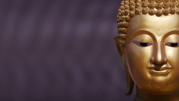 Zlatá socha Buddhy v blízkosti nahoru, rýžování