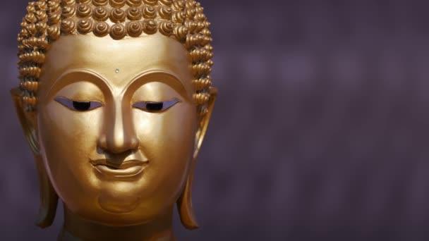 Arany Buddha szobor közel fel, pásztázó