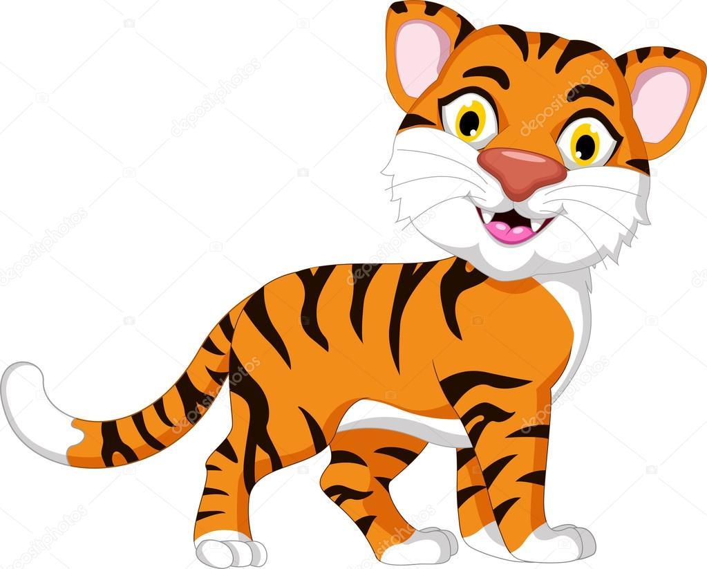 Cartone animato carino tigre per voi disegno — foto stock