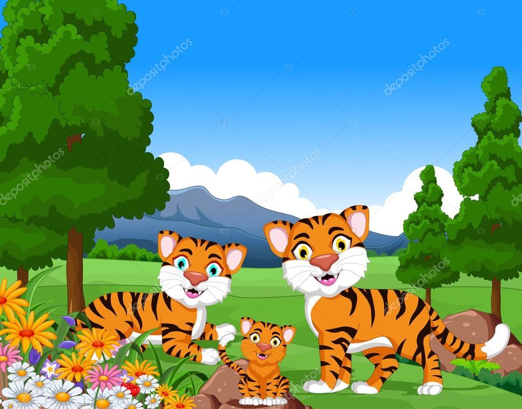 Fotos: familia de tigres   Tigre dibujos animados familia ...