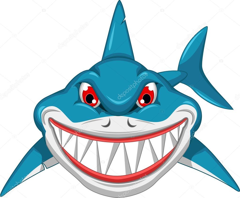 Dibujos Animados De Tiburón Enojado