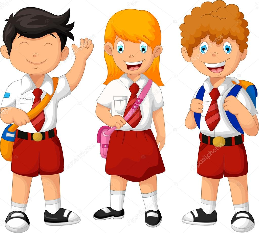 Dibujos Estudiantes Dibujos Animados Graciosos Tres Estudiantes