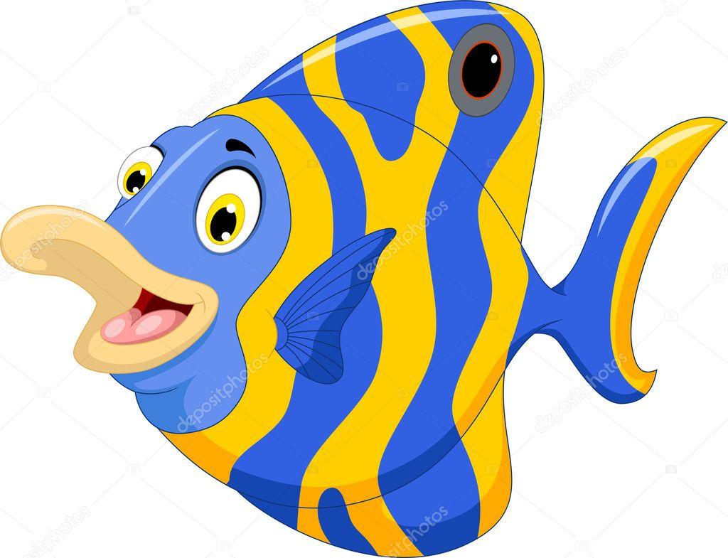 dibujos animados de peces angel divertido � fotos de stock