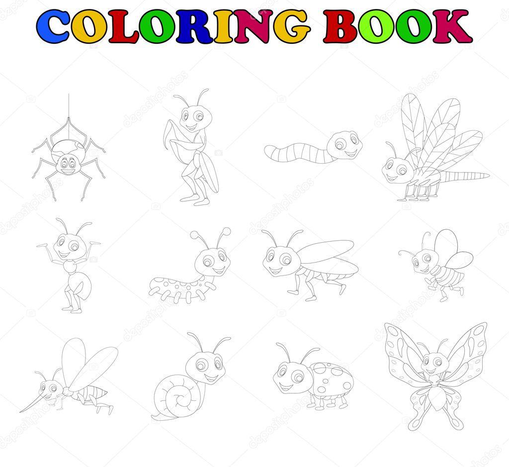 Kleurplaten Van Insecten.Kleurplaat Boek Collectie Insecten Stockfoto C Starlight789 126820156