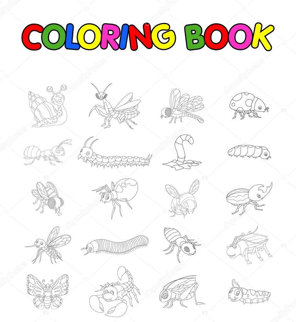 Kleurplaten Van Insecten.Kleurboek Met Collectie Van Insecten Stockfoto C Starlight789
