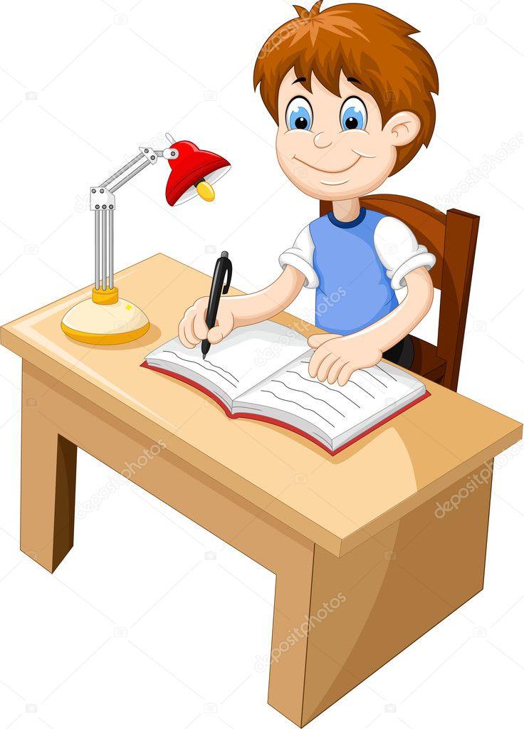 Dibujos Estudiando Animados Divertidos Dibujos Animados De Niño