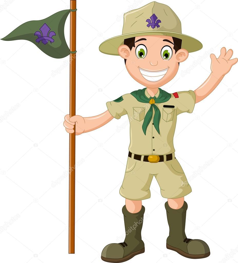 Dibujos Scouts. Finest Dibujo De Un Boy Scout Sin Cara. Explorador ...