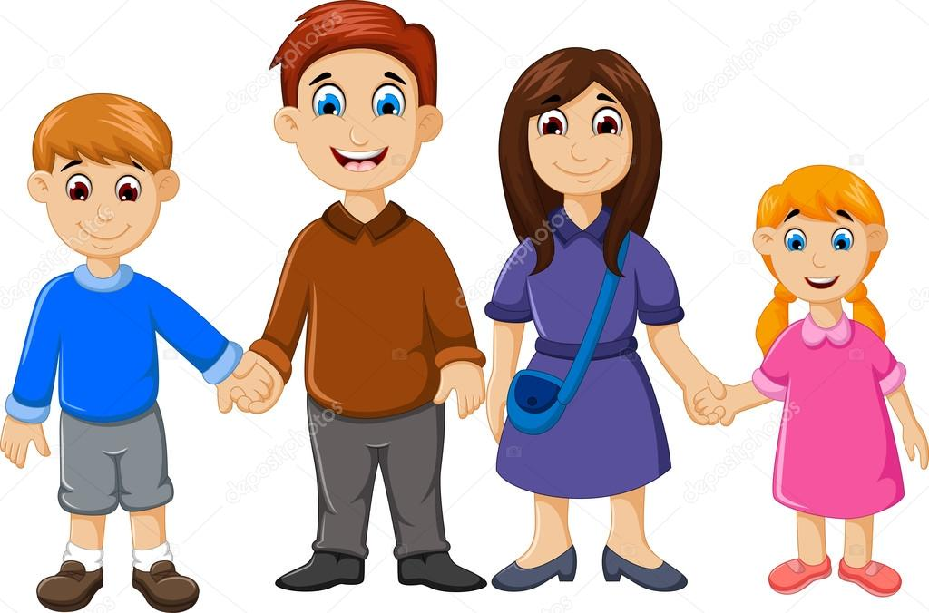 Dibujos Animados Familia Feliz Para Usted Diseño