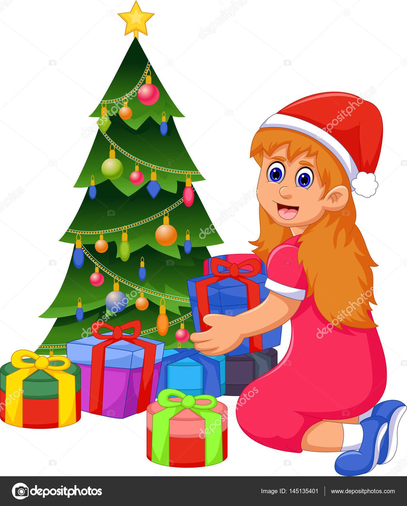 Dibujos De Navidad Regalos.Dibujos Arboles De Navidad Con Regalos Dibujos Animados