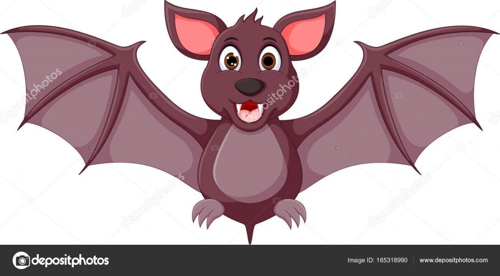 かわいい赤ちゃんコウモリ漫画のポーズ ストックベクター