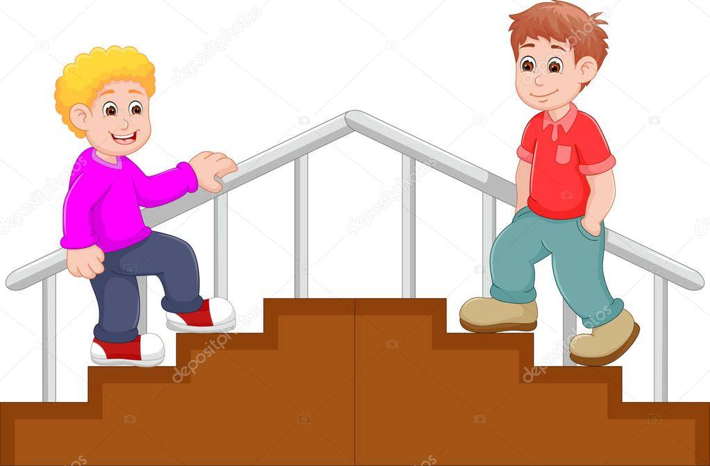 Dibujos: Niños Subiendo Escaleras