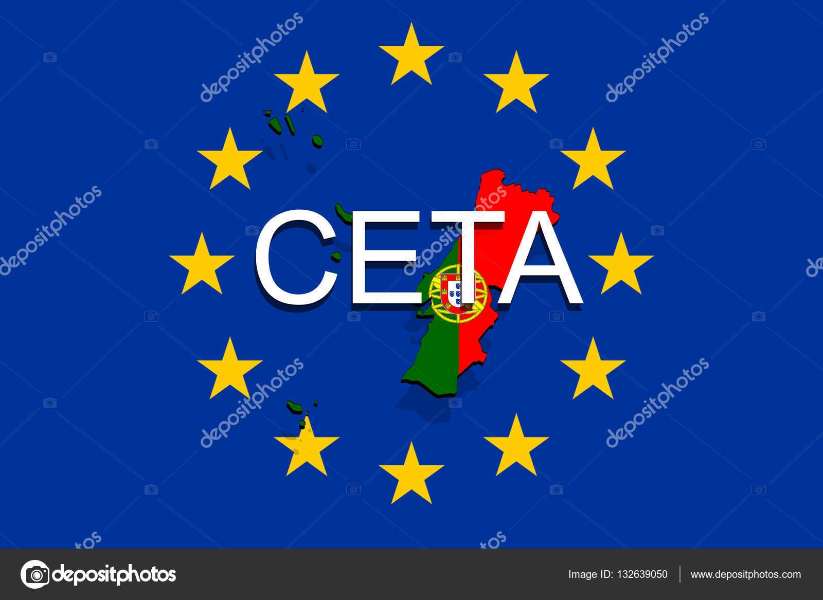 Ceta comprehensive economic and trade agreement on euro union ceta comprehensive economic and trade agreement on euro union background portugal map photo by trybex platinumwayz