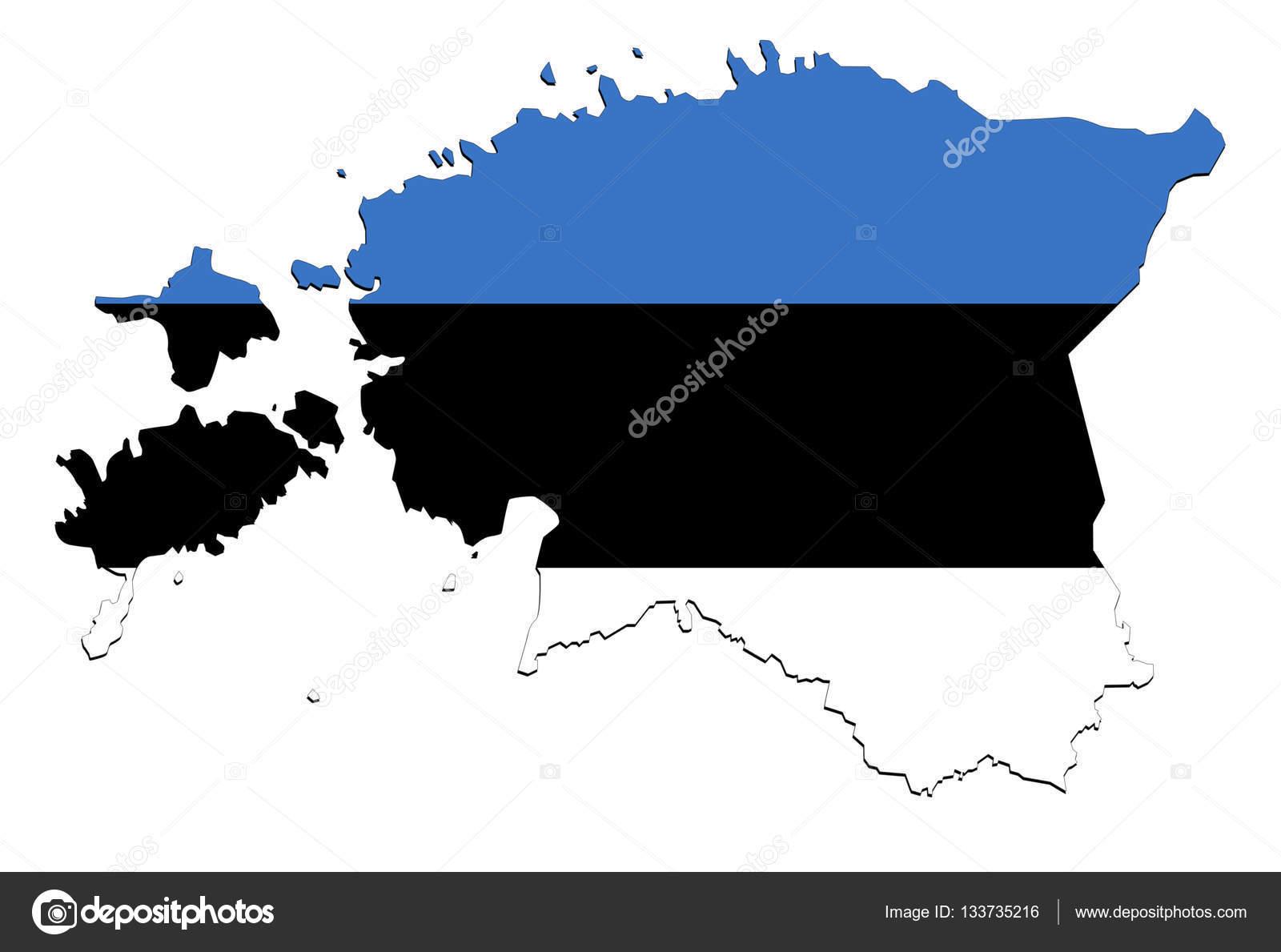 Estonia Map On White Background No Shadows Stock Photo Trybex - Estonia map download