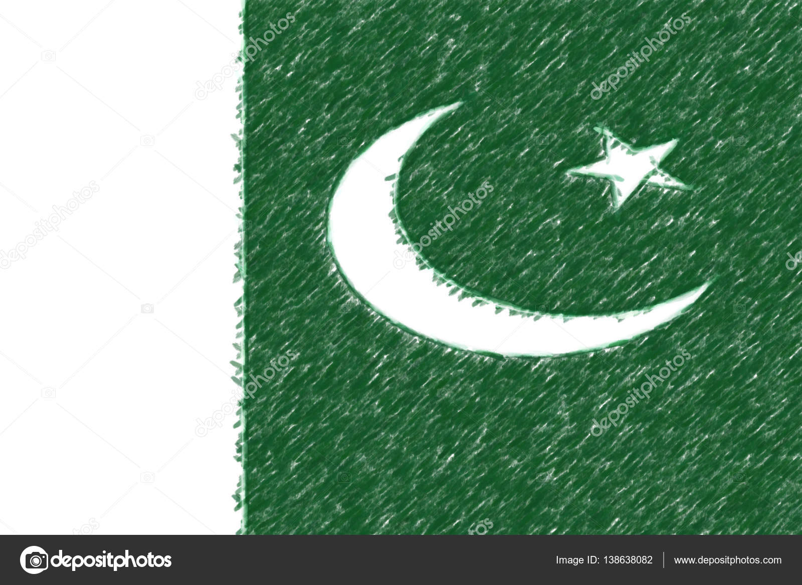 Flag of Pakistan background o texture, color pencil effect. — Stock ...