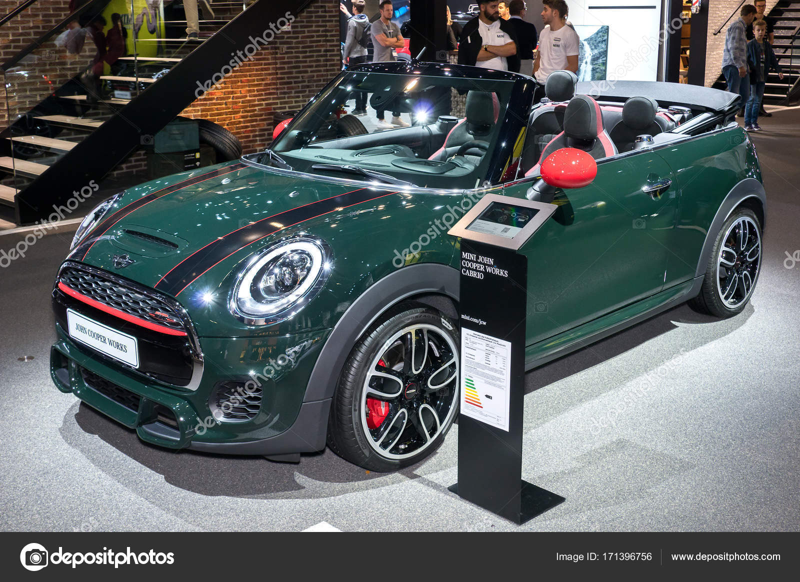 mini john cooper works cabrio stock editorial photo. Black Bedroom Furniture Sets. Home Design Ideas