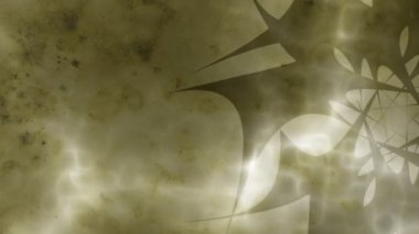 Absztrakt Ninja csillag háttér - sárga